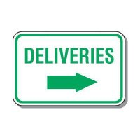 Directional Parking Signs - Deliveries (Right Arrow)
