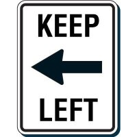 Reflective Speed Limit Signs - Keep Left (with Arrow)