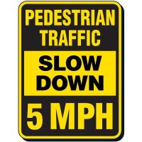 Reflective Pedestrian Crossing Signs - Pedestrian Traffic Slow Down 10 MPH