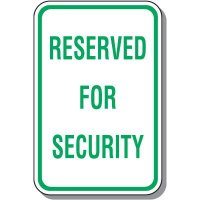 Employee Parking Signs - Reserved For Security