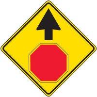 Reflective Warning Signs - Stop Ahead Symbol