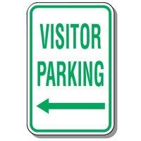 Visitor Parking Signs - Visitor Parking (Left Arrow)