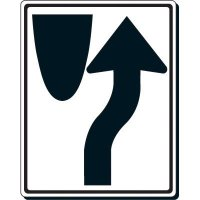 Reflective Traffic Signs - Keep Right Traffic (Symbol)