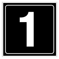 1 - Engraved Door Number Signs