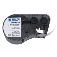 Brady M-92-428-BB BMP51/BMP41 Label Cartridge - Black on Light Gray