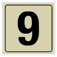 9 - Engraved Door Number Signs