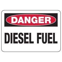 Chemical & HazMat Signs - Danger Diesel Fuel