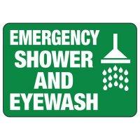 Emergency Shower And Eyewash Safety Signs