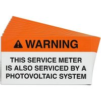 Service Meter Solar Warning Labels