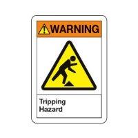 ANSI Warning Sign - Tripping Hazard