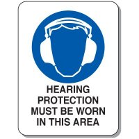Hearing Protection Safety Signs