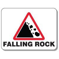 Giant Hazardous Work Zone Signs - Falling Rock