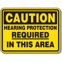 Heavy-Duty Protective Wear Signs - Caution Hearing Protection Required