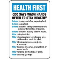 CDC Wash Hands Often Sign