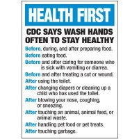 CDC Before After Hand Washing Label