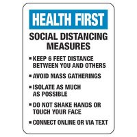 Social Distancing Measures Sign