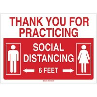 Thank You For Practicing Social Distancing Sign