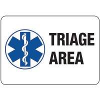 Triage Area Sign