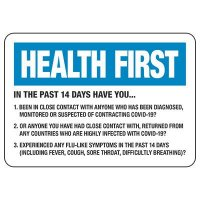 Health First Signs - In The Past 14 Days Have You