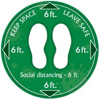 Temporary Floor Markers - 6Ft Keep Space Leave Safe