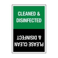 Clean & Disinfected/Please Clean & Disinfect Decal