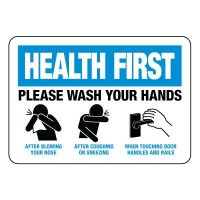 Health First Please Wash Your Hands Sign
