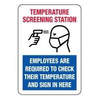 Temperature Screening Station Sign