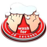3D Floor Marker - Wash For 20 Seconds - Red