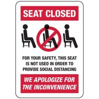Seat Closed Social Distancing Sign