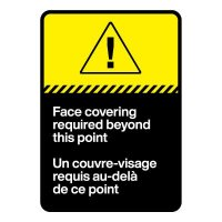 Bilingual CSA Sign - Face Covering Required Beyond This Point