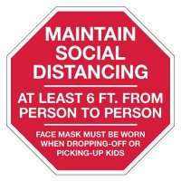 Maintain Social Distancing Stop Sign