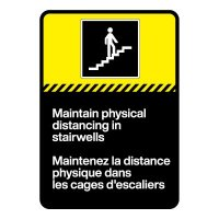 Bilingual CSA Sign -Maintain Physical Distancing in Stairwells