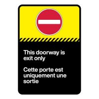 Bilingual CSA Sign -This Doorway is Exit Only