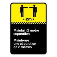 Bilingual CSA Sign - Maintain Two Metre Separation