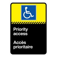Bilingual CSA Sign - Priority Access