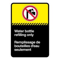 Bilingual CSA Sign - Water Bottle Refilling Only