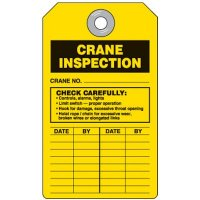 Crane Equipment Inspection Tag
