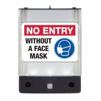 Seton Safety Sign Alerter Kit - No Entry Without a Face Mask