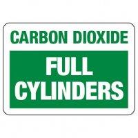 Cylinder Status Sign: Carbon Dioxide - Full Cylinders
