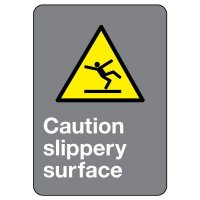CSA Safety Sign - Caution Slippery Surface