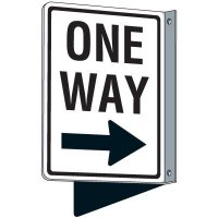 Flanged Traffic One Way (right) Sign