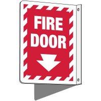 2-Way Fire Door Sign (Downward Arrow)