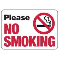 Please No Smoking - No Smoking Sign