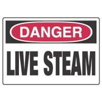 Chemical Hazard Danger Sign - Live Steam