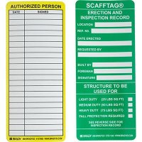 Erection and Inspection Scafftag Insert