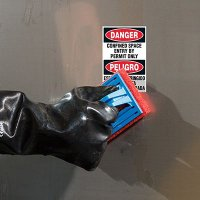ToughWash® Labels - Confined Space Entry Permit (Bilingual)