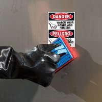 ToughWash® Labels - Watch Your Hands (English/Spanish)