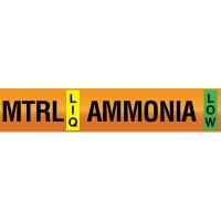 Opti-Code™ Ammonia Pipe Markers - Medium Temperature Recirculated Liquid