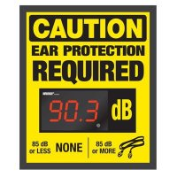 Decibel Meter Sign Kit - Ear Protection (Earplugs Symbol)