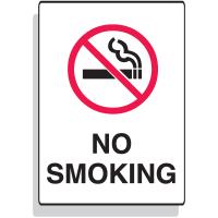 "Fiberglass Sign - No Smoking - 7"" x 10"""